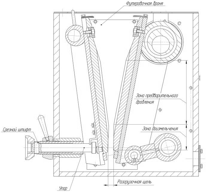 Щековая дробилка для кирпича чертежи